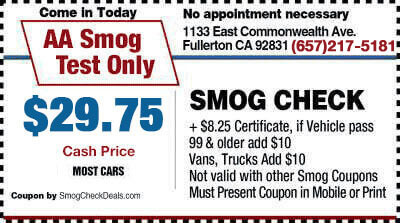 smog check coupon fullerton